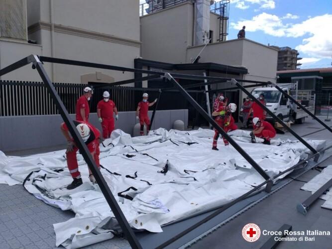 Situazione contagi stabile, da domani a Bari tamponi rapidi gratis con la Croce rossa